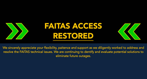 FAITAS Access Restored