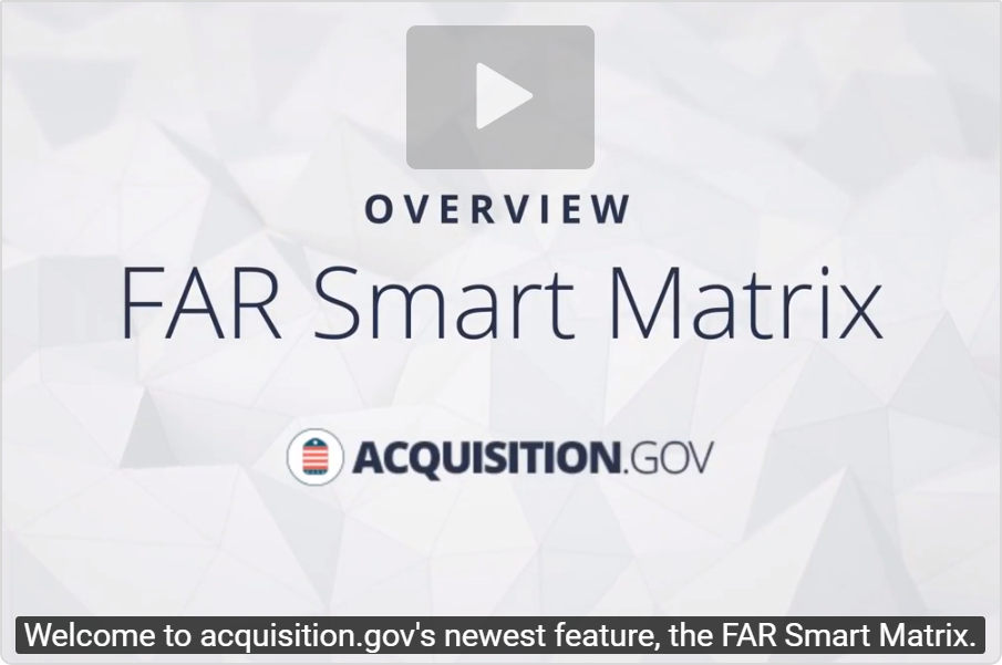 Far Smart Matrix | Acquisition GOV